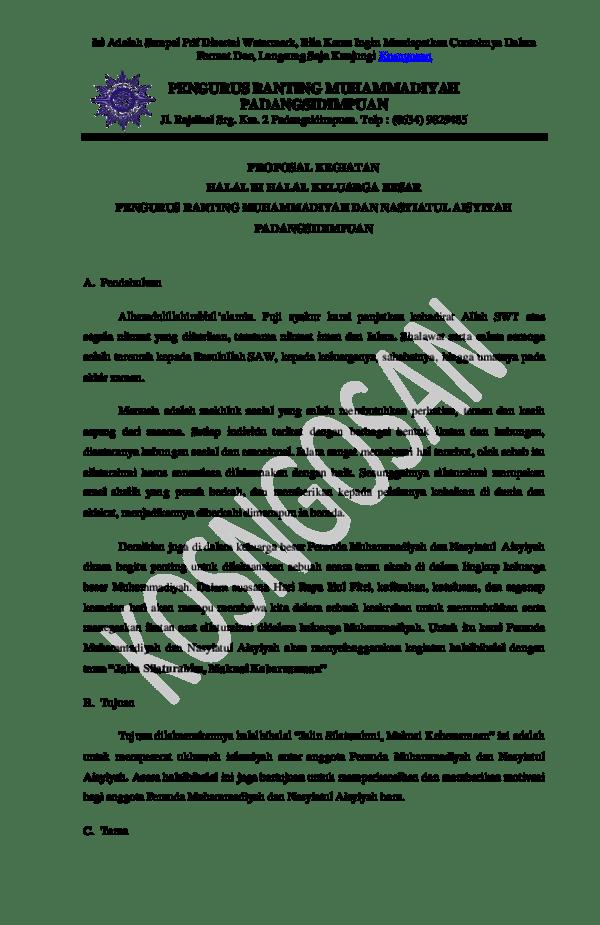 Pdf Contoh Proposal Halal Bi Halal Pdf Reza Harahap Academia Edu