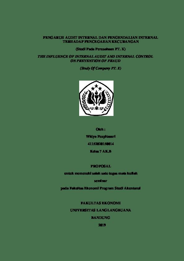 20 Contoh Skripsi Audit Internal