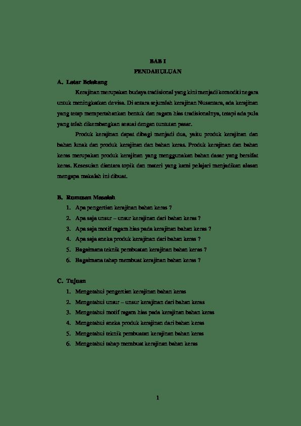 19 Contoh Makalah Kerajinan Tangan Pdf
