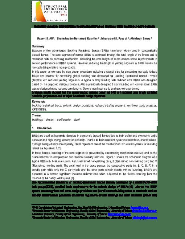 buckling restrained braced frames pdf   lajulak org