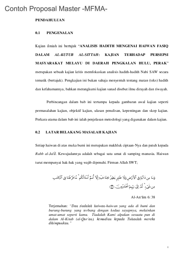 Contoh Proposal Master Ukm