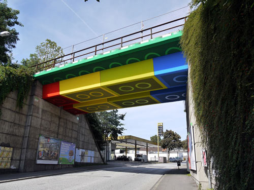Bridge Transformed into Giant LEGO Bricks by German Street Artist MEGX