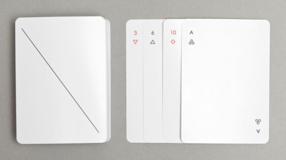 Minimalist Iota Playing Cards by Joe Doucet in style fashion Category