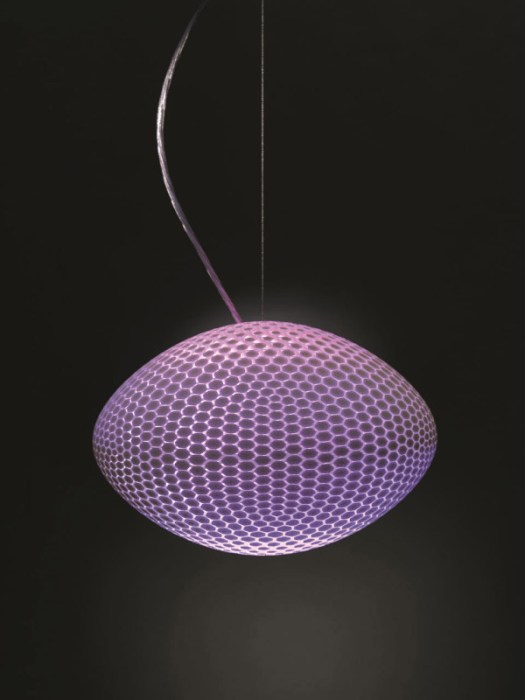 3D Printed Lamps with Color Changing Bulbs in technology home furnishings Category