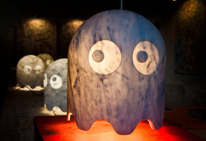 Pac-Man Ghosts x Carrara Marble = 80s Magic