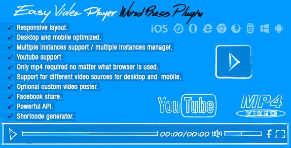banner - Easy Video Player Wordpress Plugin