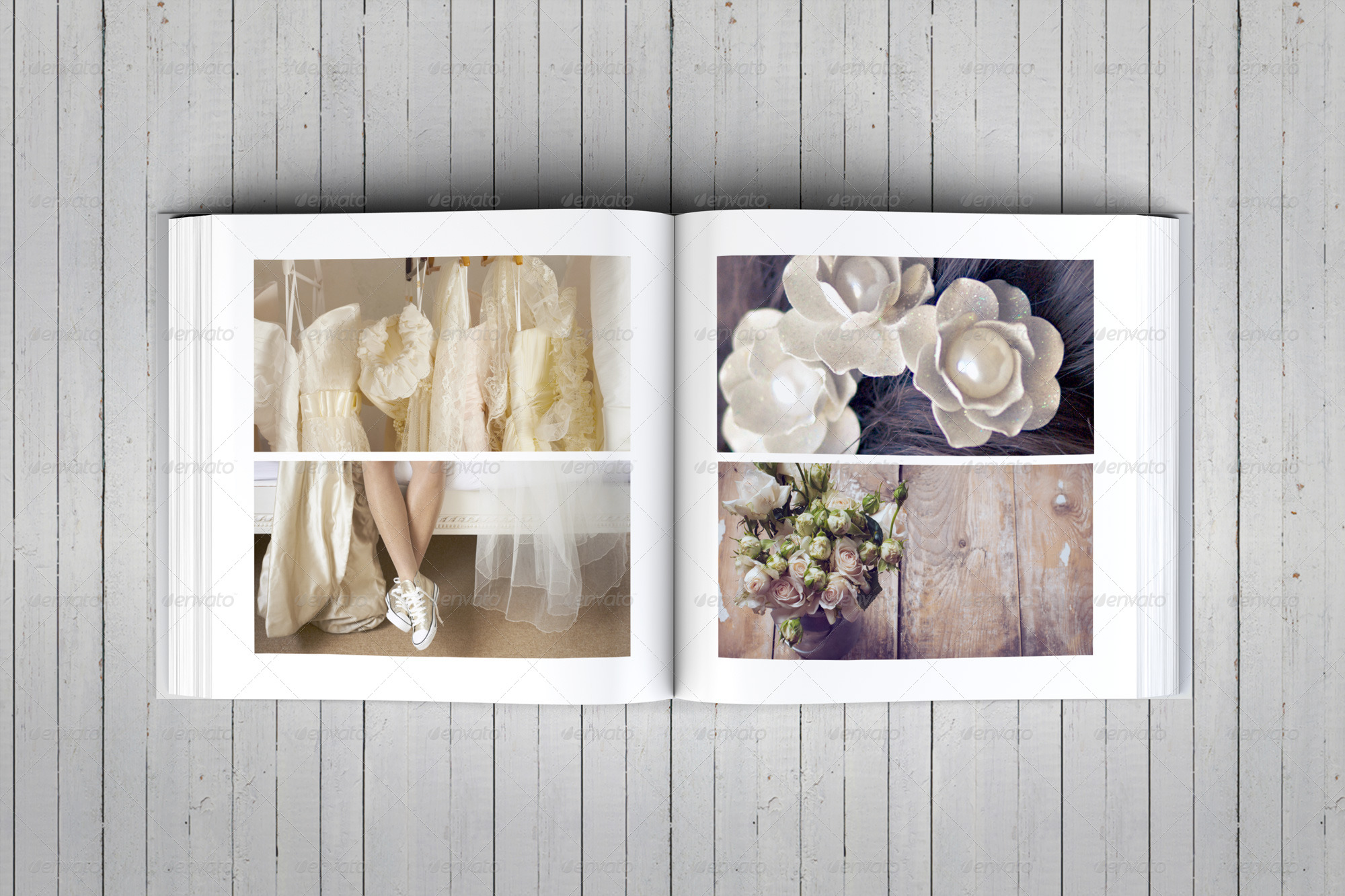 Elegant Square Wedding Photo Album Template By DogmaDesign GraphicRiver