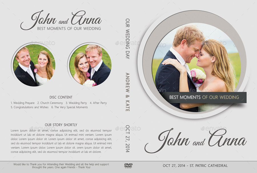 6 In 1 Wedding DVD Cover Amp Disc Label Bundle By Rapidgraf GraphicRiver