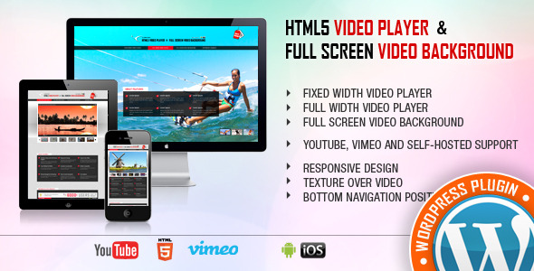 HTML5 Video Player WordPress Plugin - 1