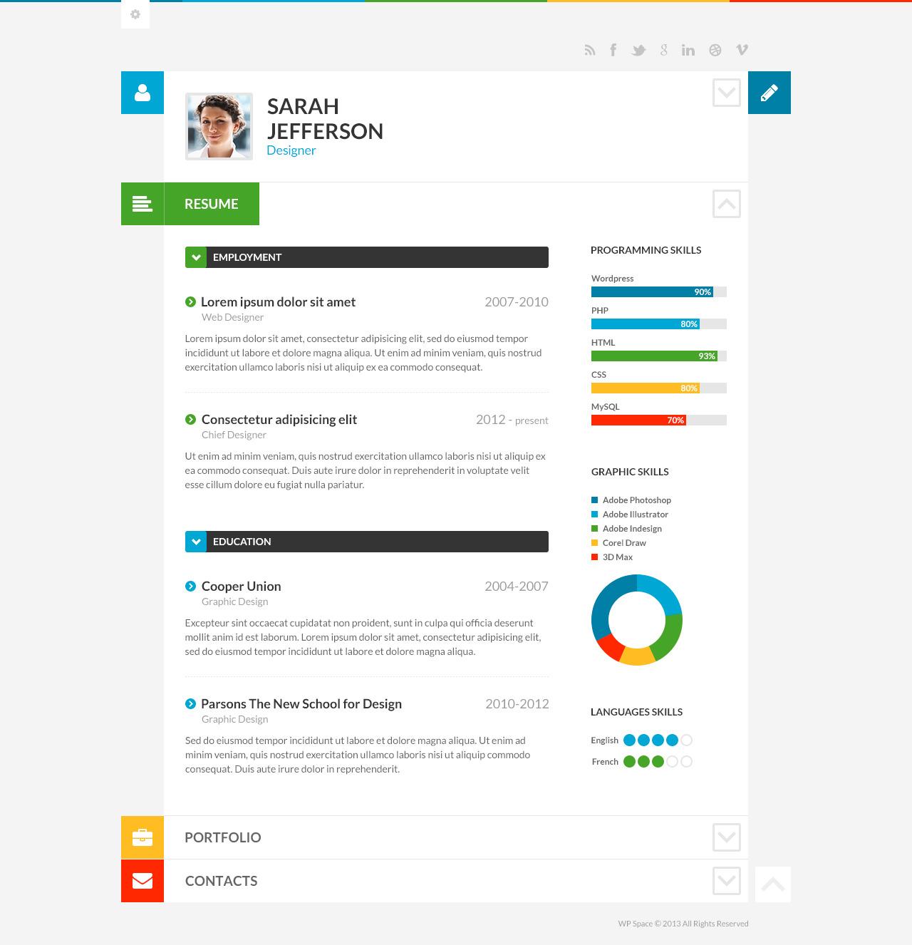 shiftcv blog resume portfolio wordpress by themerex