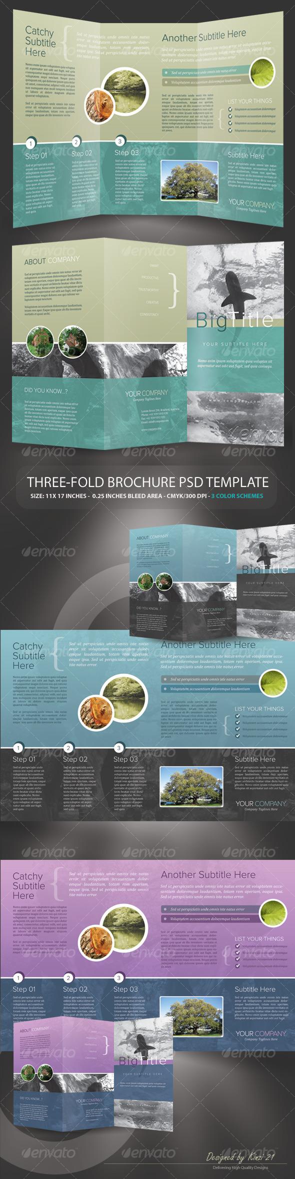 Tri-fold Brochure PSD Template - Corporate Brochures