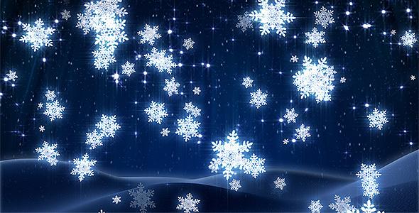 Winter Snowflakes Loop By Kurbatov VideoHive