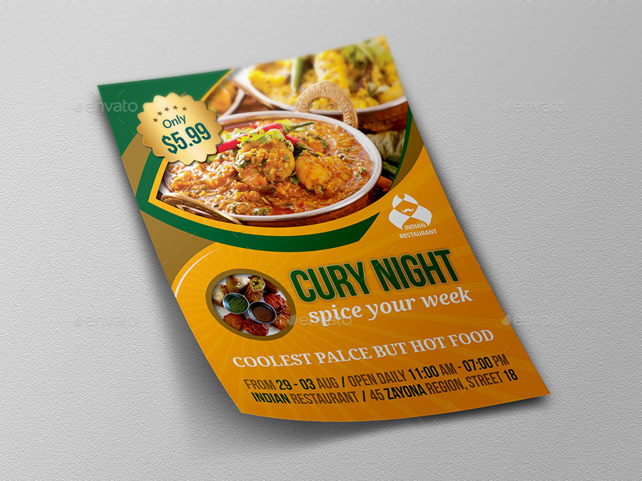 Restaurant Flyer Templates. Vegetarian Restaurant Flyer Template