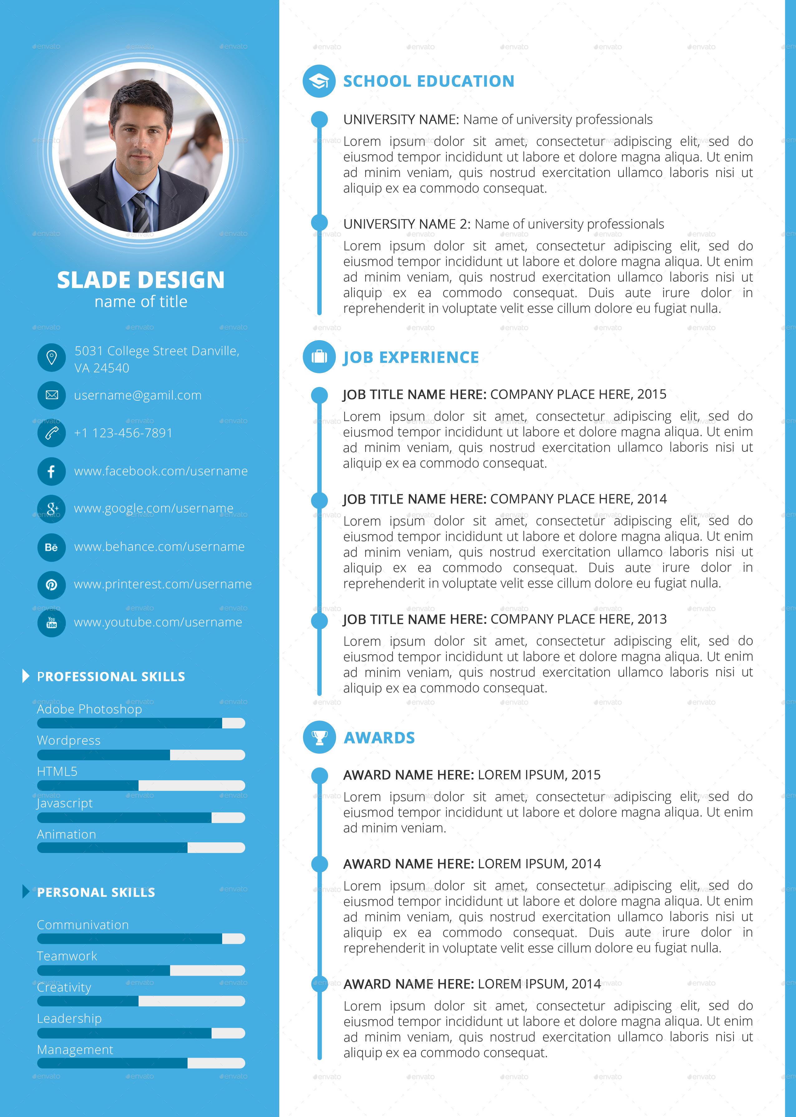 resume modern template modern curriculum vitae resume professional
