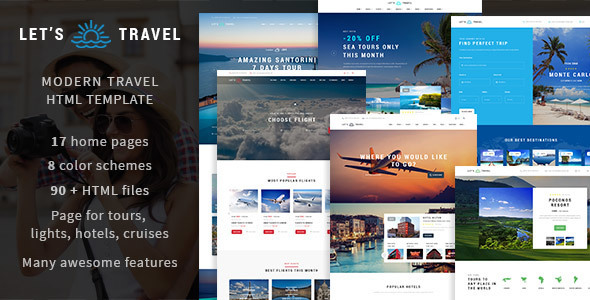 Let's Travel v1.2.1 – Complete Travel Booking WP Theme