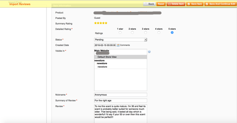 Advanced Customer Review/Import Product Review - 5