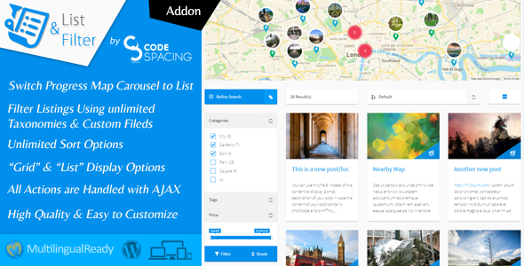 image preview - Progress Map, List & Filter - WordPress Plugin