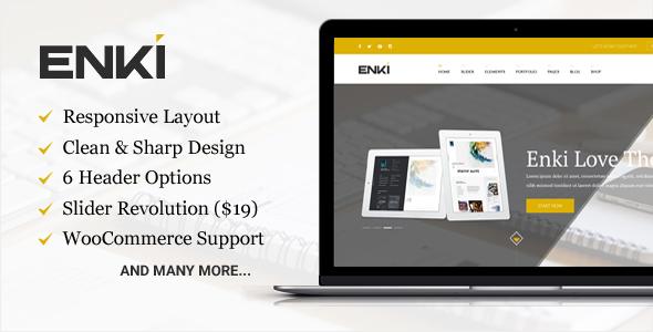 Enki v1.0.5 ultimate corporate WordPress Theme