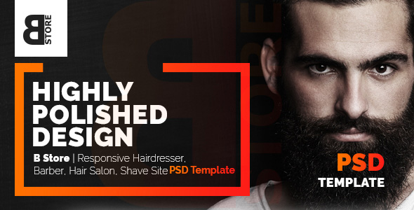B Store Responsive Barbers Amp Hair Salons PSD Template