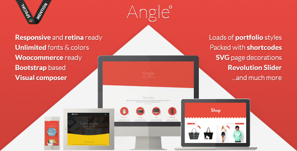 Angle v1.13.3 – Flat Responsive MultiPurpose WordPress Theme