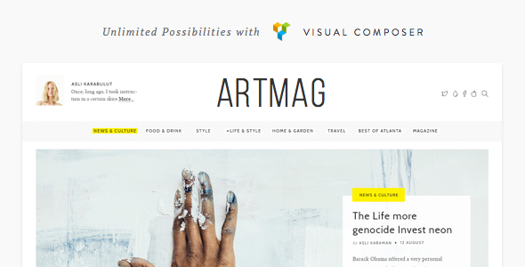 Artmag v1.6.2.3 – Clean WordPress Blog & Magazine Theme
