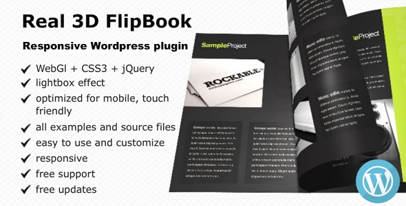 Real 3D FlipBook v2.22 – Responsive WordPress Plugin