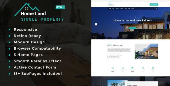 Homeland   Real Estate Single Property HTML5 Template