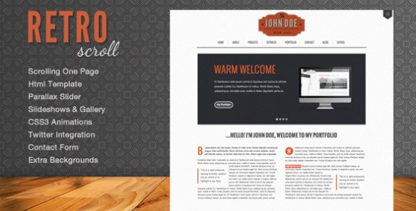 Retro Scroll - Creative One Page Html Template