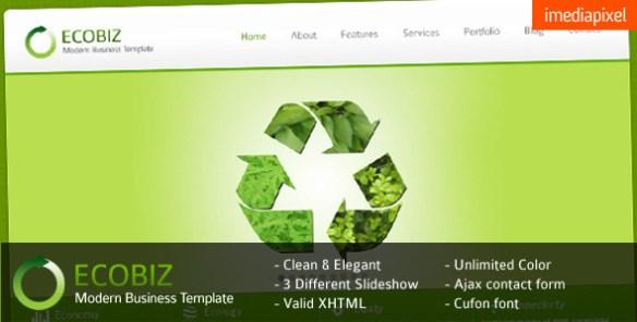 Temas WordPress tema verde - Criar site com templatesWordPress ...