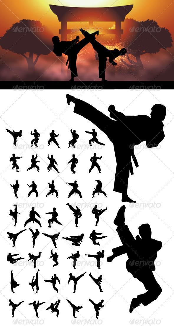Karate Girl Kick T Shirts