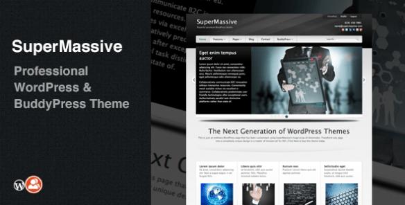 SuperMassive: Professional WordPress/BuddyPress Theme