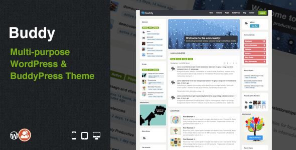 Buddy: Multi-purpose WordPress & BuddyPress Theme