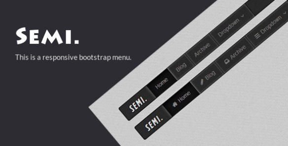 Semi - Responsive Bootstrap Menu