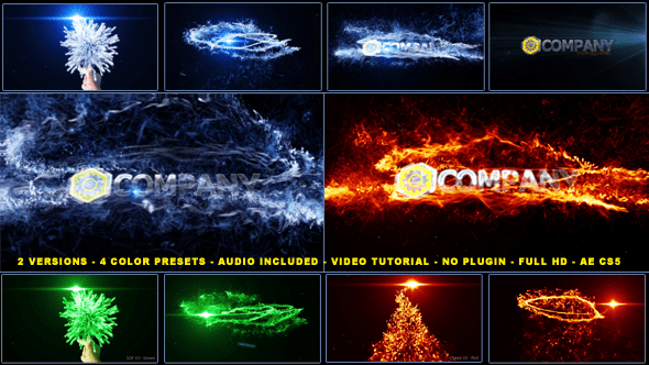 After Effects Project Files Magical Particles Vortex Logo Reveal VideoHive