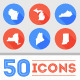 Download 50 Flat U.S. State Icons from GraphicRiver