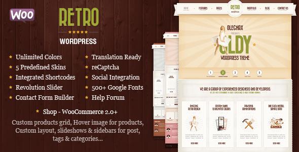 Retro v4.0.0 – Responsive Vintage WordPress eCommerce Theme