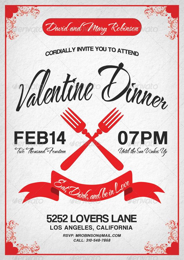 Valentine Dinner Invitation By Viral Legacy GraphicRiver