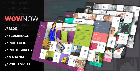 WowNow PSD - Multi-Purpose Flat Design