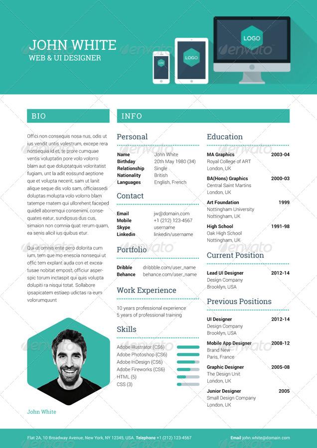 creative resume preview 02 creative resume preview jpg