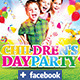 Download Children's or Kids Party Flyer Facebook Template  from GraphicRiver