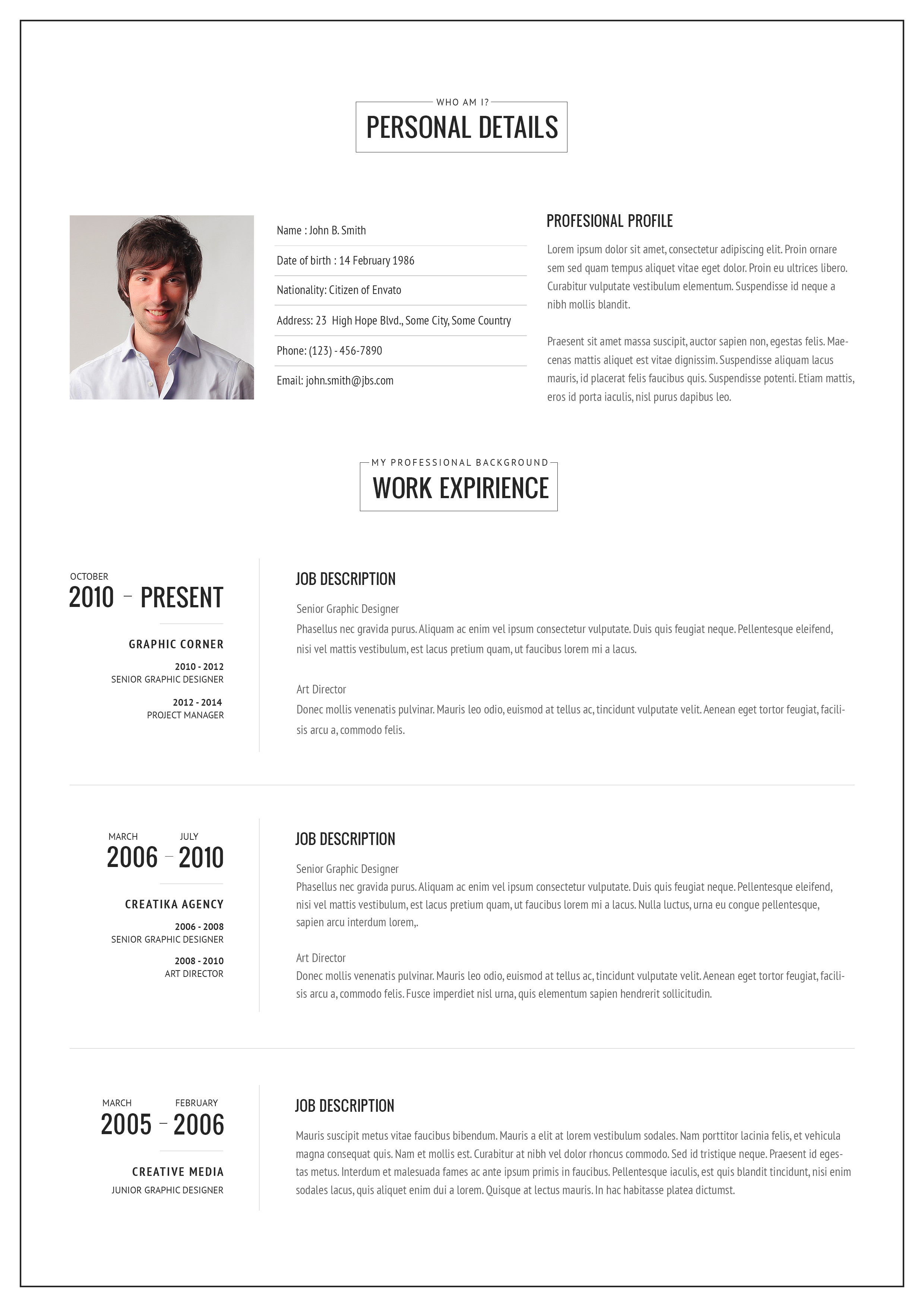 resume 1 Or 2 Page Resume 2 page resume template 2016 wolff updated 1 or 45 best images about modern for word and pages 3