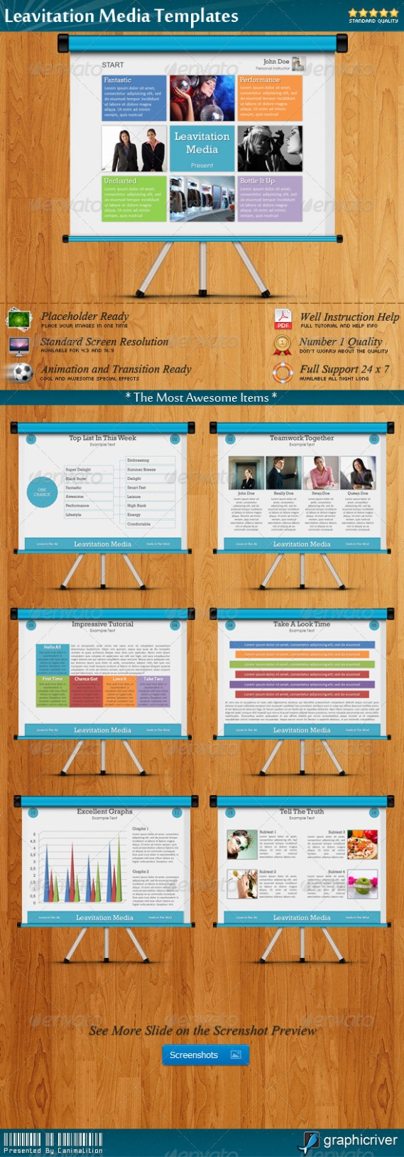 Leavitation Media Presentation Templates