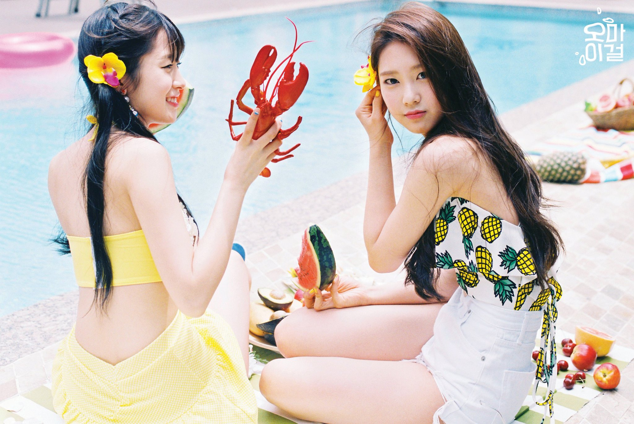 Update: Oh My Girl Has Fun In The Sun In Teaser Images For Summer Comeback