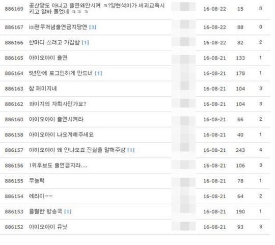 inkigayo i.o.i complaints