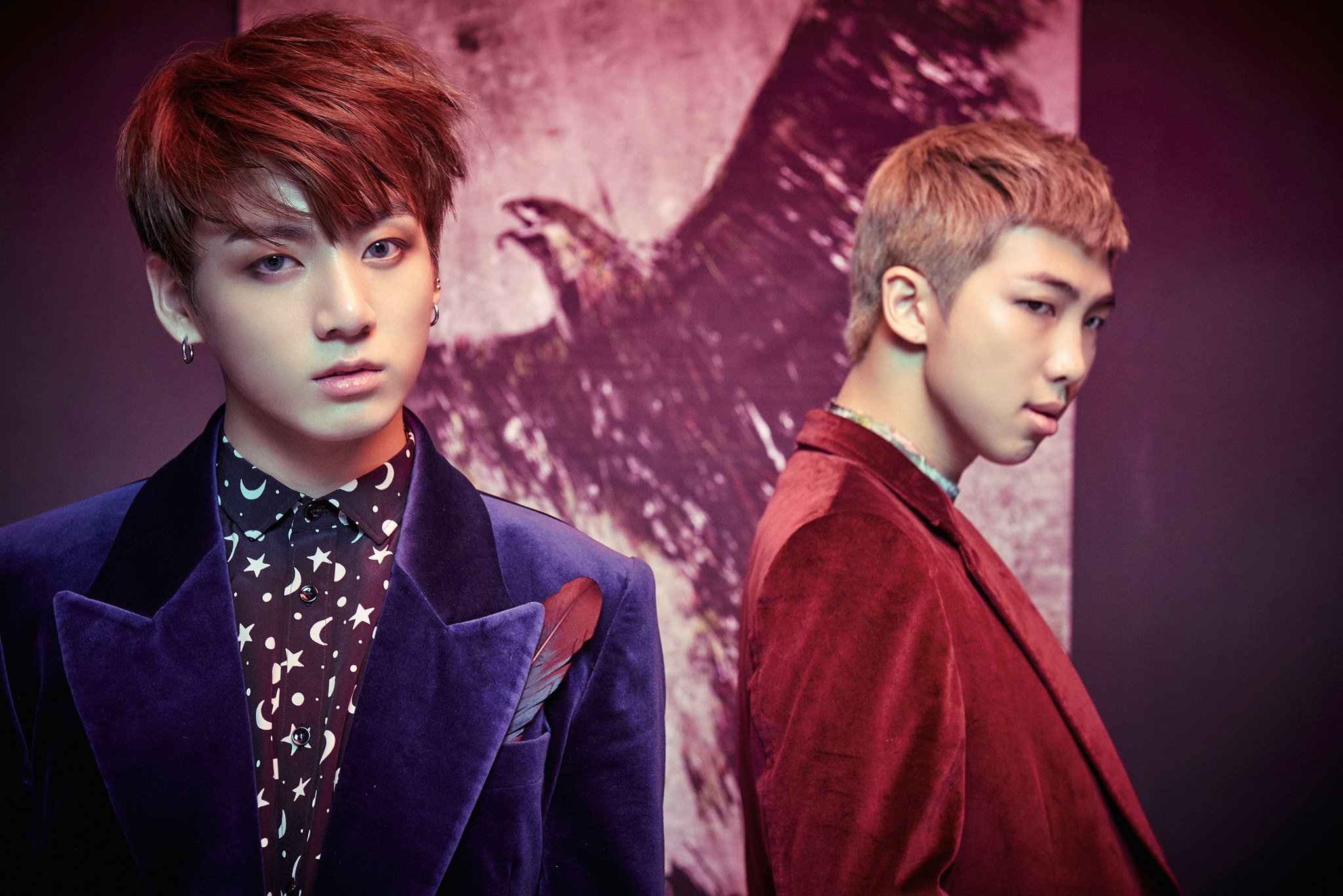 "BTS Shares Concept Photos Of Jungkook And Rap Monster For Return With ""WINGS"""