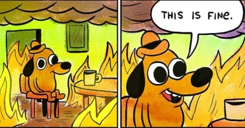 - This Is Fine Meme - The Best Of The Internet's Reactions To BTS's Comeback  - This Is Fine Meme - The Best Of The Internet's Reactions To BTS's Comeback