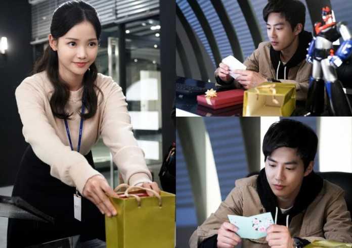 "- EXO Suho Ha Yeon Soo1 - Ha Yeon Soo Gifts EXO's Suho A Mysterious Present In ""Rich Man, Poor Woman""  - EXO Suho Ha Yeon Soo1 - Ha Yeon Soo Gifts EXO's Suho A Mysterious Present In ""Rich Man, Poor Woman"""