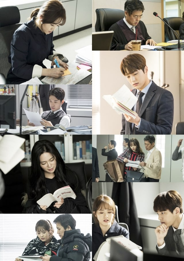 "- Miss Hammurabi11 - Go Ara, INFINITE's L, Lee Elijah, And More Passionately Study Their Scripts In Behind-The-Scenes Photos Of ""Miss Hammurabi""  - Miss Hammurabi11 - Go Ara, INFINITE's L, Lee Elijah, And More Passionately Study Their Scripts In Behind-The-Scenes Photos Of ""Miss Hammurabi"""