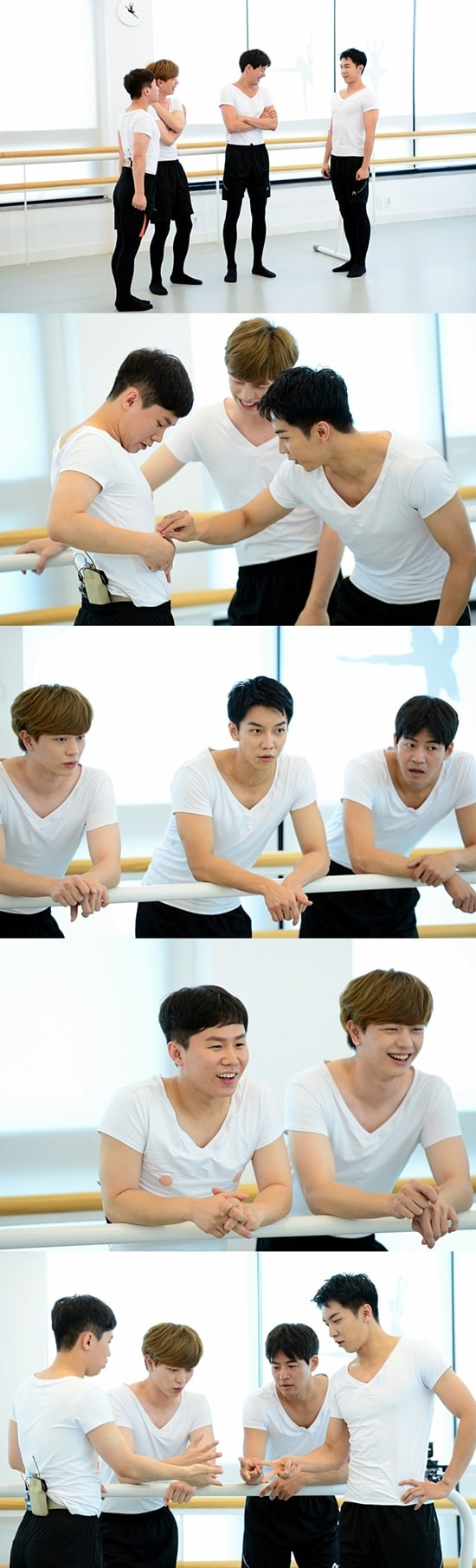 """- Master in the House - BTOB's Yook Sungjae, Lee Seung Gi, And Lee Sang Yoon Get Into Ballet Tights For """"Master In The House""""  - Master in the House - BTOB's Yook Sungjae, Lee Seung Gi, And Lee Sang Yoon Get Into Ballet Tights For """"Master In The House"""""""