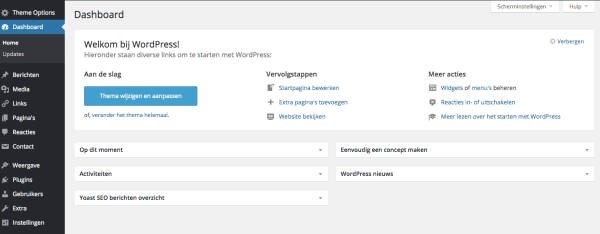 Blog maken via het dashboard van WordPress